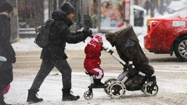 City gets its white Christmas after all