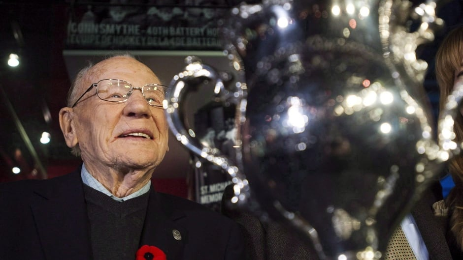 Canadian Second World War veteran and Hockey Hall of Fame inductee Johnny Bower died on Tuesday.