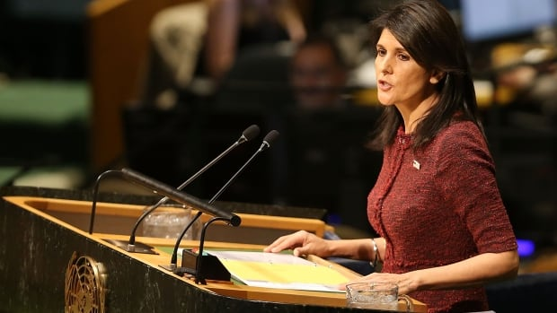 U.S. Ambassador Nikki Haley speaks to the UN General Assembly Dec. 21. 'We will no longer let the generosity of the American people be taken advantage of or remain unchecked.'