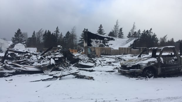A fire on Christmas Day destroyed a lobster pound in St. Bernard, N.S.