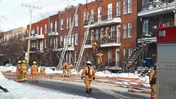 Firefighters say that a fire broke out on Rushbrooke Street in Verdun, Thursday.