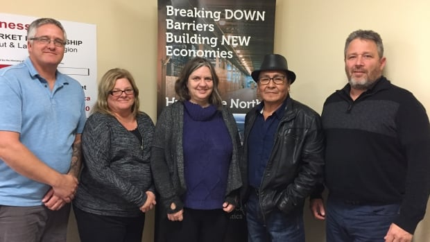 Part of the Trans-Load working group in Sioux Lookout, Ont includes Jody Brinkman, Vicki Blanchard, Bruce Sakakeep and Alan Howie. The represent the Municipality of Sioux Lookout, K.I. First Nation and Morgan Fuels.
