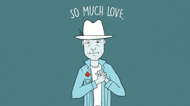 An illustration of the late Gord Downie, The Tragically Hip frontman.