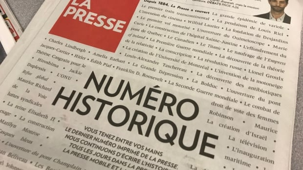 Starting in 2018, La Presse — one of Canada's most widely circulated newspapers — will be exclusively digital.