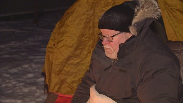 Peter Burjess slept outside in -32 C weather over the weekend to raise money for the Stollery Children's Hospital.