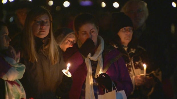 Oak Bay vigil for Chloe Berry and Aubrey Berry