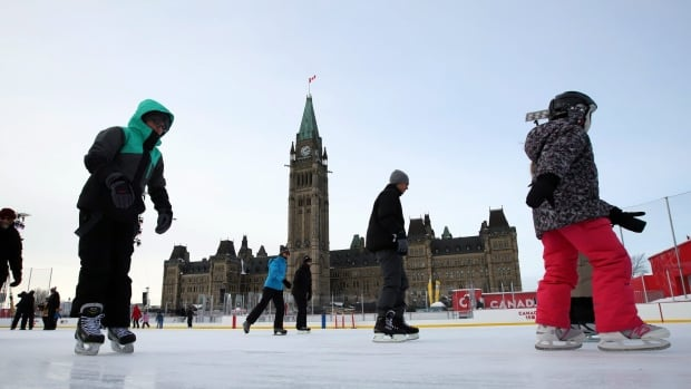 Skaters brave frigid conditions on the Parliament Hill skating rink on Dec. 29, 2017. After being in place for six days, an extreme cold warning in Ottawa has finally been lifted.