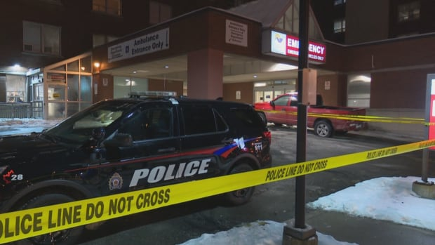 A shooting steps away from Brantford General Hospital left one person dead.