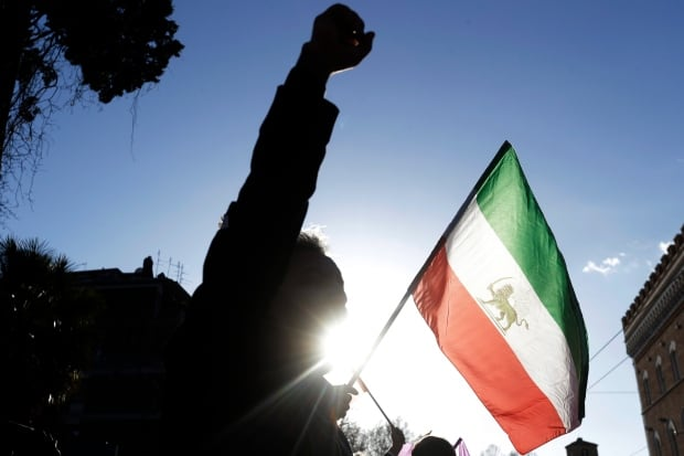 CORRECTION Italy Iran Protest