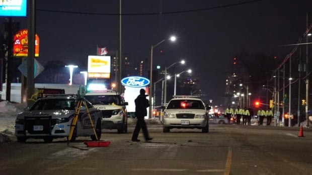 London police were called to the area of Dundas and Hale Streets at about 6 p.m. on Tuesday after receiving multiple reports that a cyclist had been hit.