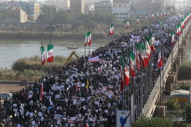 IRAN PRO GOVERNMENT DEMONSTRATION