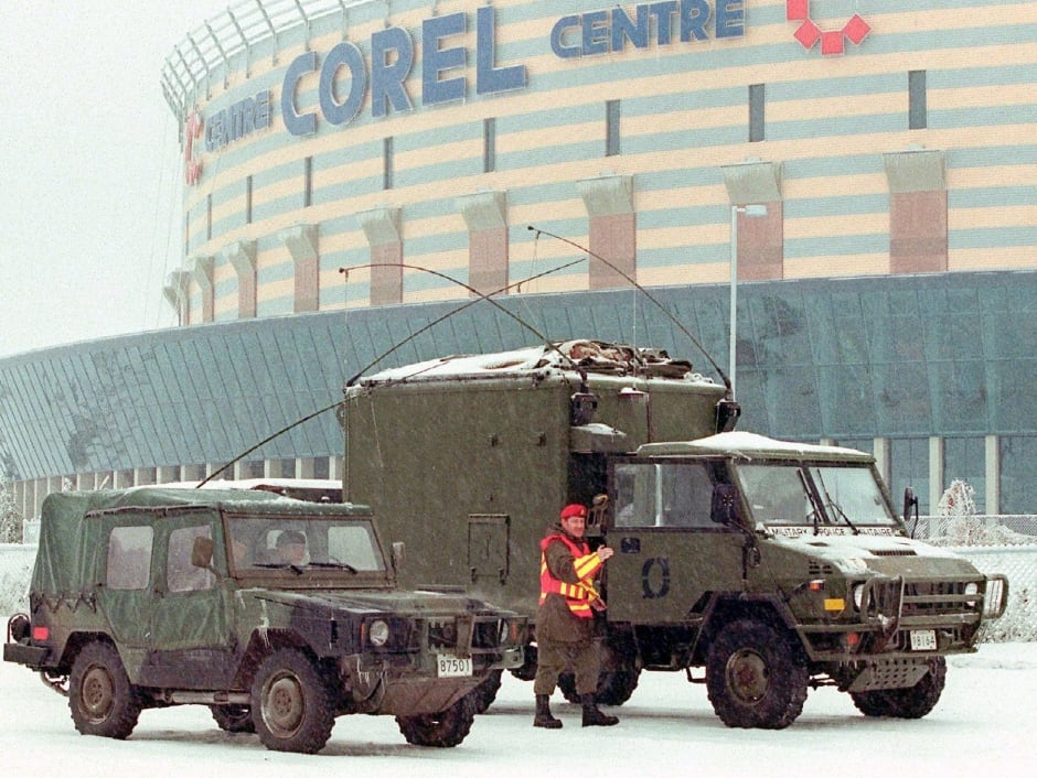 ICE STORM corel centre armed forces 1998 ottawa