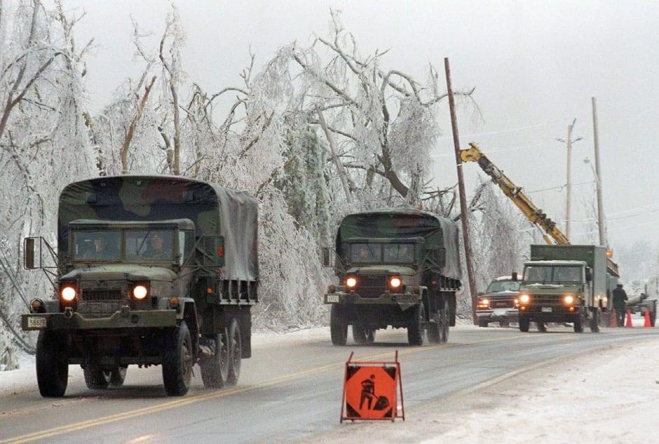 ICE STORM military convoy ottawa 1998 cfb petawawa