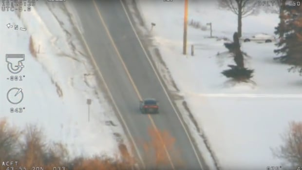 York police helicopter video appears to show impaired driver weaving on road
