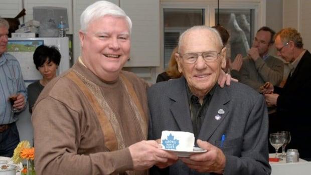 Johnny Bower and Joe Bowen