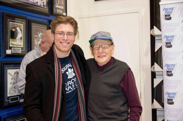 Aaron Spink and Johnny Bower