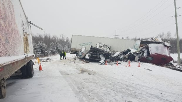 One man died in a serious collision on Highway 11 near Earlton, Ont., on Wednesday. Three other people were also killed in collisions in the northeast.