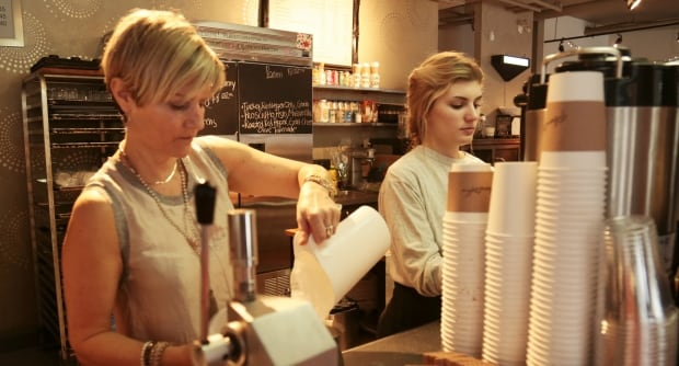 Sheila McLaine and Gabrielle Pronovost at Planet Coffee
