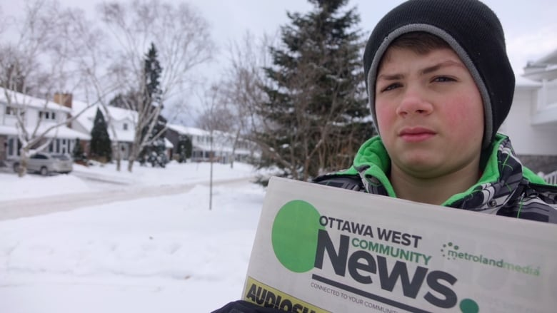 sebastien tubbs first job has been delivering newspapers in ottawa but the 12 year old will deliver his last paper jan 11 after postmedia made the