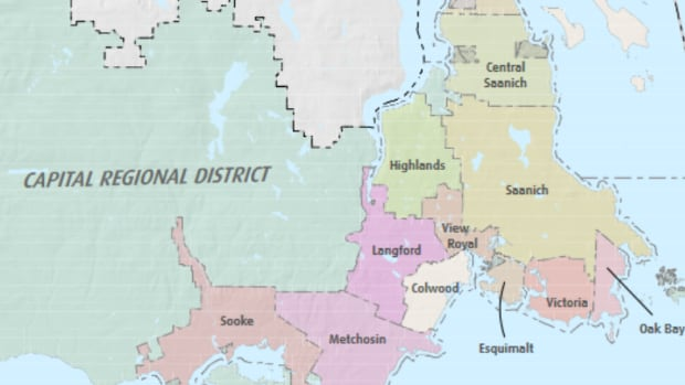 Eleven of the 13 municipalities in Victoria's Capital Regional District (Sidney and North Saanich not pictured)