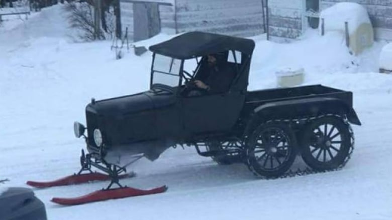 Nain's 90-year-old snowmobile fully restored, ready to ride | CBC News