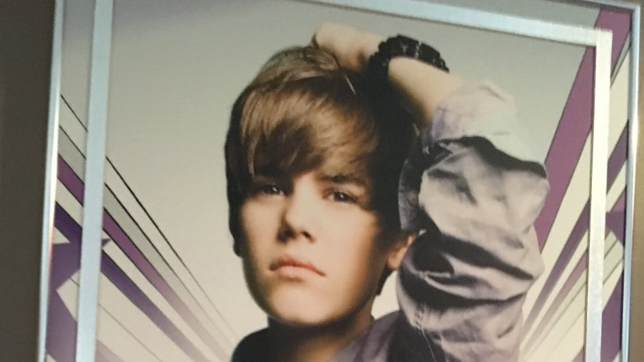 A poster with Justin Bieber imageis shown in this undated handout image. Mementoes from Justin Bieber's formative years as an aspiring Canadian singer will go on display next month at a museum exhibit in his hometown of Stratford, Ontario. THE CANADIAN PRESS/HO- Stratford Perth Museum