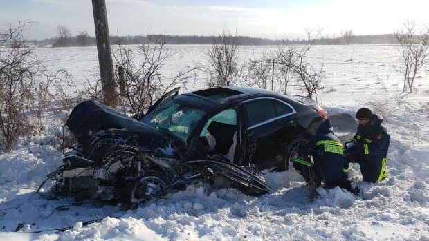 """Three people were killed in a head-on collision on Highway 7 in Pickering in early January. O.P.P Sgt. Kerry Schmidt called the overall spike in fatalities """"startling."""""""