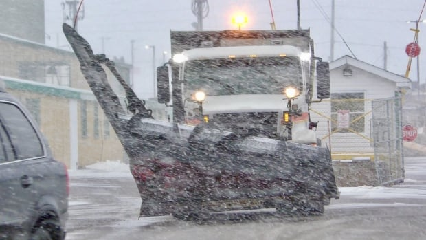 One of the 100 or so provincial plow operators is dispatched from the government garage on Riverside Drive in Charlottetown.
