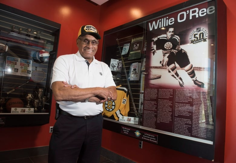 Willie O'Ree is shown in Willie O'Ree Place in Fredericton ...