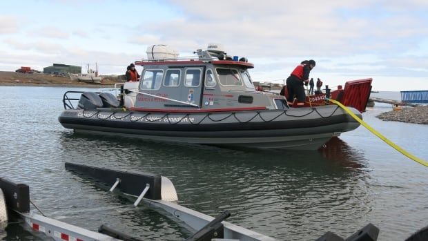 This Canadian Coast Guard vessel is the type that will be employed at the new rescue station in Rankin Inlet, Nunavut.