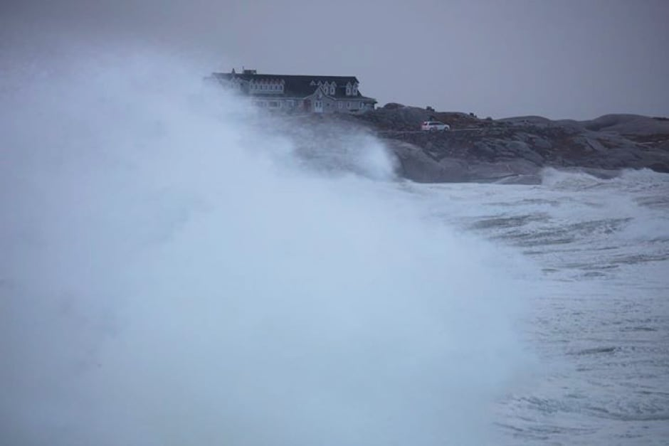 Peggys Cove Jan 2018 Nova Scotia storm