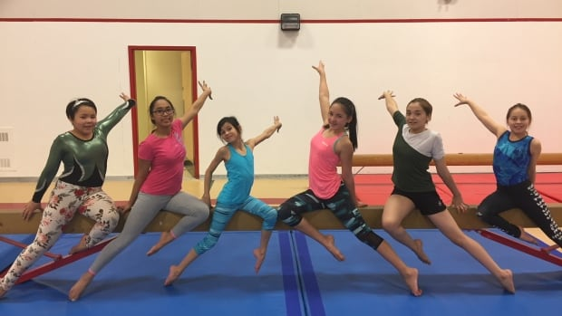 Gymnasts from the Aqsarniit Ujauttaq (Northern Lights) gymnastics club in Rankin Inlet, Nunavut, hope to get to a few competitions, but costs are a challenge.