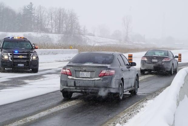 Highway 402 diversion