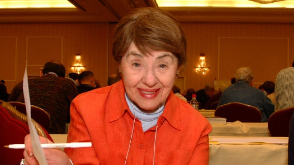 Maura Jacobson pictured at the 2008 American Crossword Puzzle Tournament.