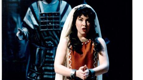 Rebecca Hass, opera singer and teacher in Nabucco,