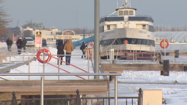 After days of sub-zero temperatures, Toronto police say they have seen 20 to 30 people walking out on the ice at the city's harbour.