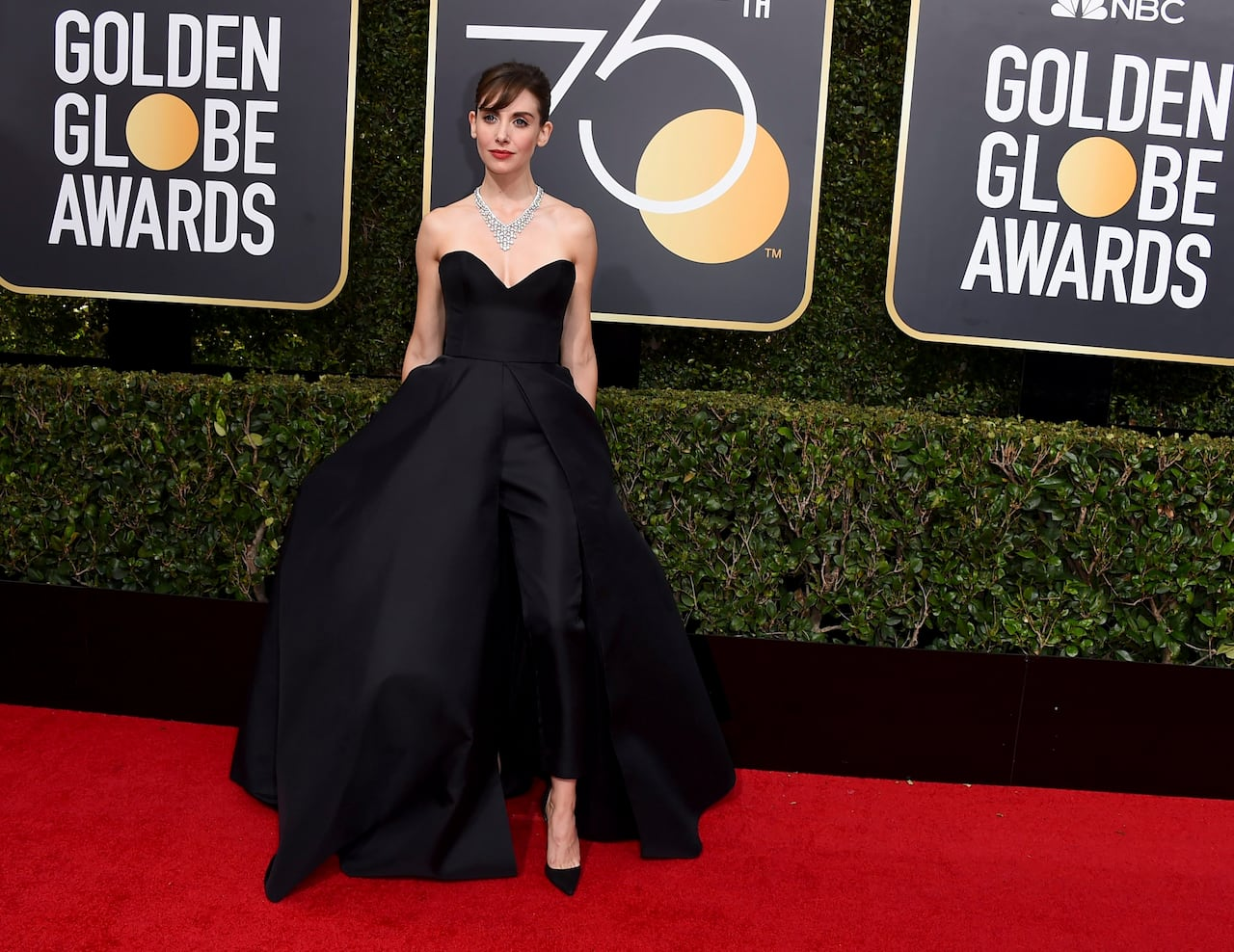 8b6f626fc0a Celebs paint Golden Globes red carpet black in Time s Up