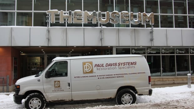 TheMuseum got water damage from a burst sprinkler pipe in the ceiling of its partner restaurant, B@TheMuseum.