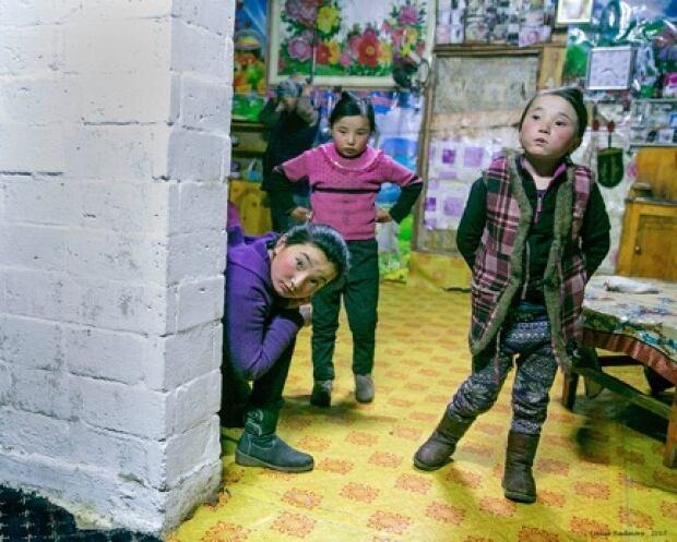 Children of Mongolian Kazakh clan