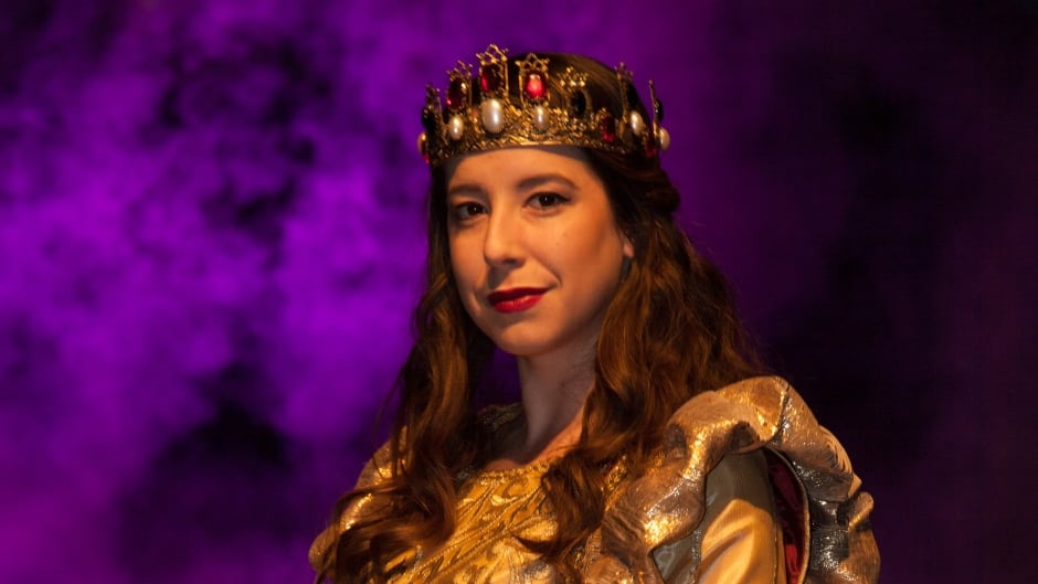 Queen Dona Maria Isabella, played by Allyssa O'Donnell, is the first female lead at the Medieval Times dinner theatre.