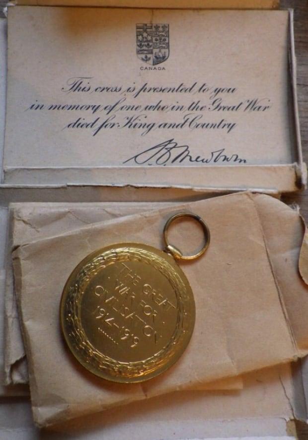 Stolen medal