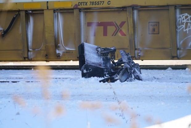 Fatal snow plow train crash London Ontario