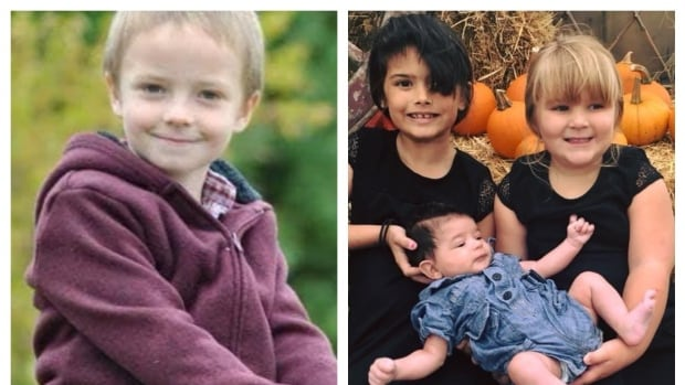 From left to right, Mason, 7, Mya, 7, Jayla, 4 and three-month-old Winston, died in a house fire on the weekend.