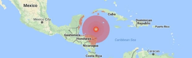 Earthquake off Honduras