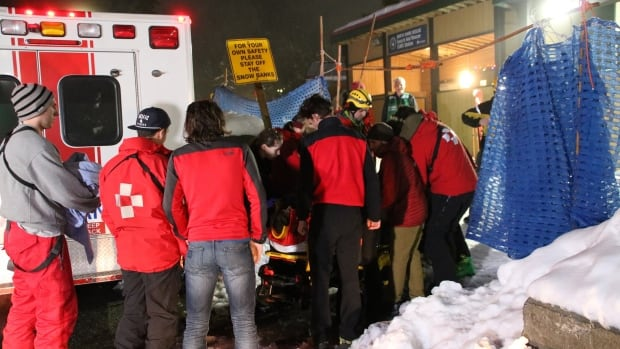 On Mount Seymour on Tuesday, a skier involved in an avalanche had to be rescued after breaking his leg.