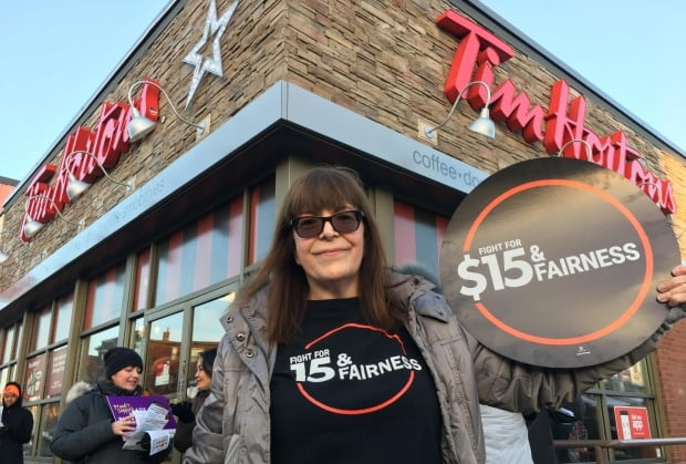 Tim Hortons protest January 10 2018