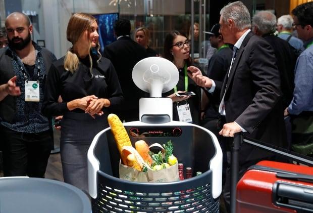CES Gadget Show LG shopping cart