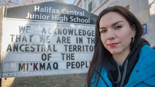Mi'kmaw activist Rebecca Moore wrote a land acknowledgment that will be read each morning at Halifax Central Junior High.