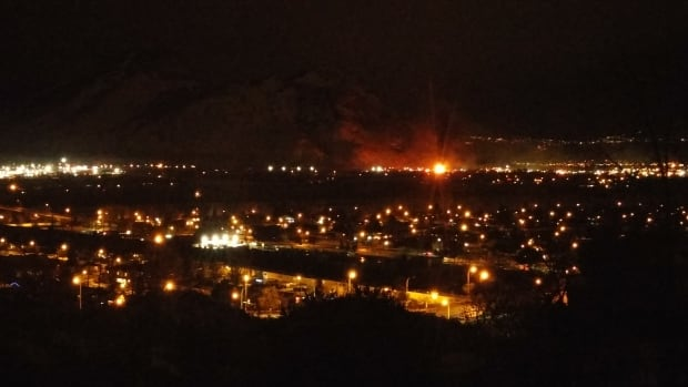 The fire at Valley View Industries on Jan. 9 was visible from most parts of Kamloops, B.C.
