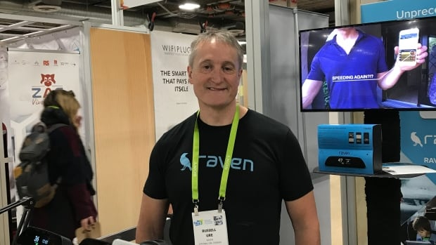 Ottawa's Russell Ure is currently showcasing his technology, called Raven, at the Consumer Electronics Show in Las Vegas.